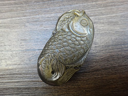 zhang Natural Gold Obsidian mascot fish pendant DSC03995