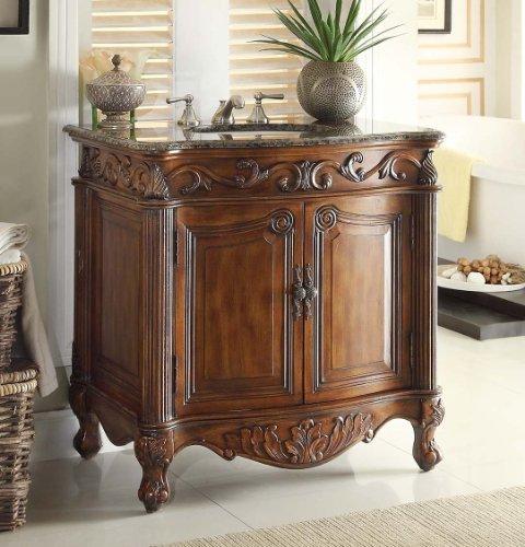 "Benton Collection 32"" Traditional Style Fiesta Bathroom sink vanity cabinet CF-2873SB-TK For Sale"