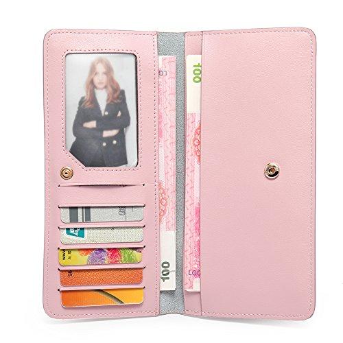 CALLAGHAN RFID Blocking Wallet for Women Slim Clutch Long Designer Checkbook Lady Credit Card Holder Ladies Wallet Checkbook Holder