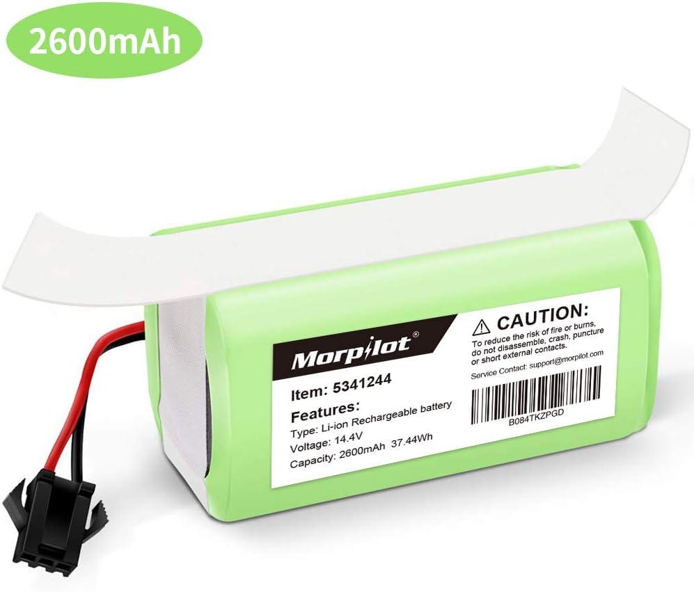 morpilot Batería de Reemplazo para Conga Excellence 990, 14.4V 2600mah Li-Ion, Compatible con Conga Excellence, Conga Excellence 990, DEEBOT N79S N79, Eufy RoboVac 11 11S 30 30C 12 35C