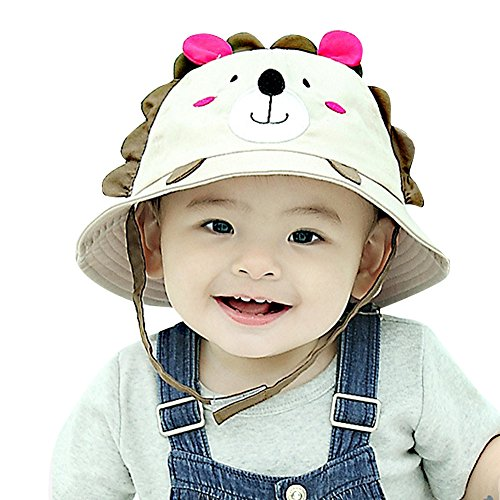 IMLECK Little Lion Baby Sun Hat Outdoors Hat with Chin Strap, Breathable 50+ UPF - 2018 Best Gift in USA
