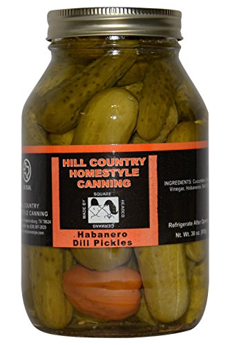 Texas Hill Country Habanero Dill Pickles 30 oz