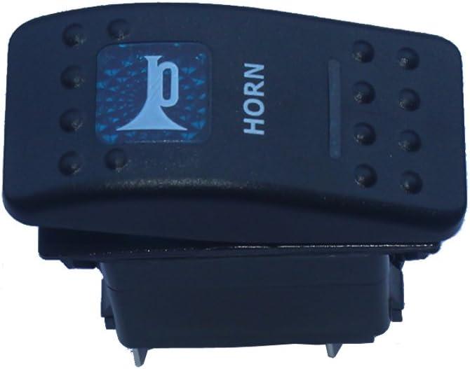 Houtby 12v 20a Kfz Blau Led Licht Beleuchtet Wippenschalter Kippschalter Armaturenbrett Schalter Momentschalter Horn Light Auto