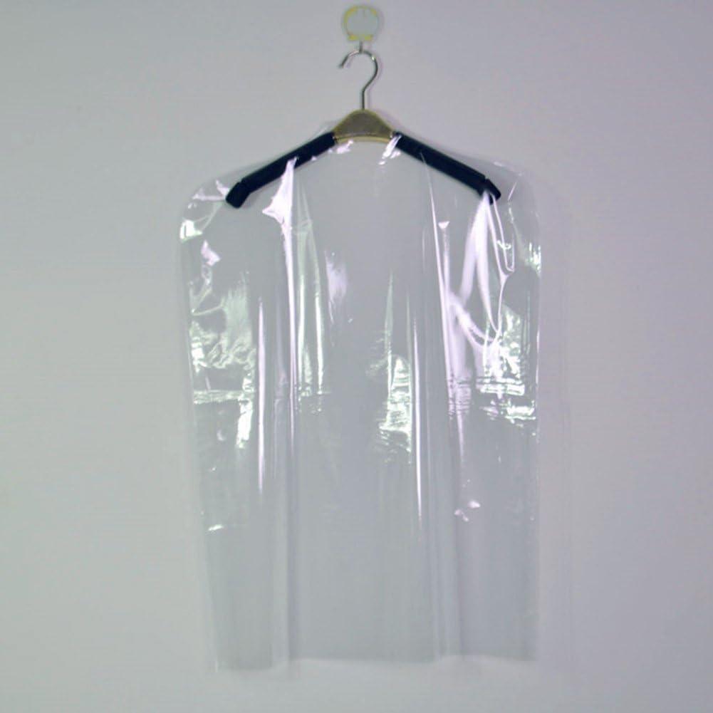 Bolsas de Limpieza en seco 60 * 90cm Bclaer72 Fundas de Ropa Transparentes no Desechables para Ropa Bolsas de pl/ástico para Colgar Vestidos cobertor de Polvo Trajes Show Cubierta Antipolvo
