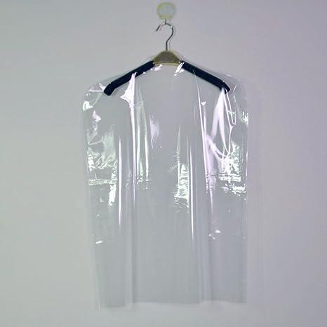 Bclaer72 Fundas de Ropa Transparentes no Desechables para Ropa, Trajes, Vestidos, Bolsas de Limpieza en seco, cobertor de Polvo, Bolsas de plástico ...
