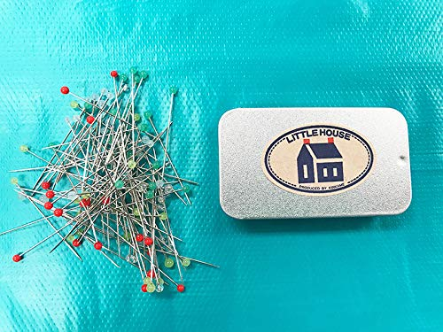 - Shibori Dragon Japanese Sewing Notions - Little House Japanese Dressmaker's Pins with Tin