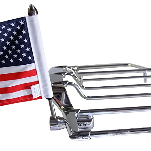 - Pro Pad Air Wing Luggage Rack Flag Mount Kit, Fits 0.5 inch Round VERTICAL Bar Exclusively