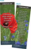 Christian Bookmark with Bible Verse, Pack of