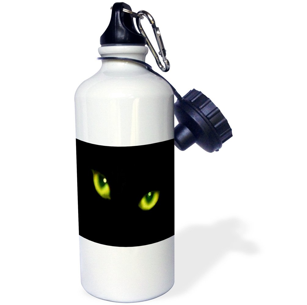 ローズWB _ 6022 _ 1グリーンの目の黒猫スポーツウォーターボトル、21オンス、ホワイト   B004235VW8