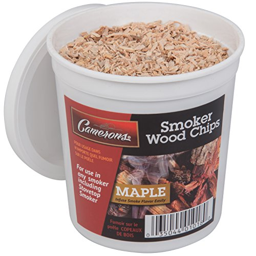 Camerons Smoking Chips - (Maple) Kiln Dried, 100% Natural Extra Fine Wood Smoker Sawdust Shavings - 1 Pint Barbecue Chips (Maple Wood Chips)