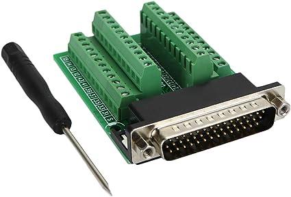 DB44 Male Signals Breakout Board Screw terminals