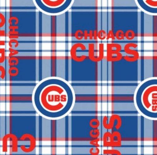 - Fleece Chicago Cubs Plaid MLB Baseball Sports Team Fleece Fabric Print by the Yard