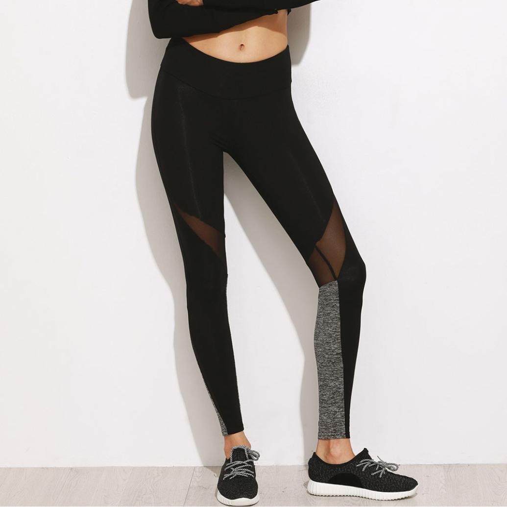 Mujer Leggings ronamick Mujer alta cintura flexible Net hilo ...