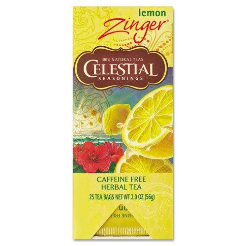 Celestial Seasonings Lemon Zinger Tea, 25 Count Ruby Chai Tea