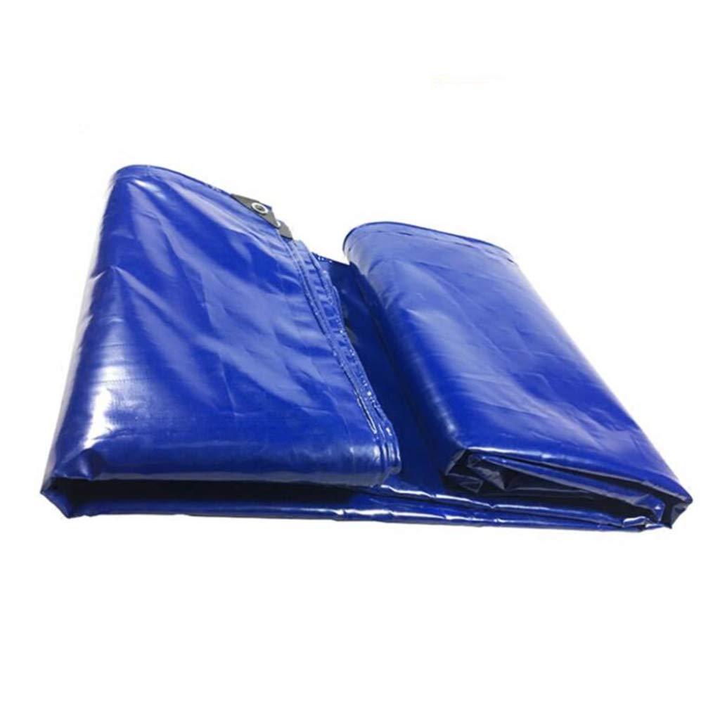 Home warehouse LKW-Plane, im Freien Winddicht wasserdicht Sonnencreme regenfest Tuch Schatten Canvas Reservoir Cover blau,4  5M
