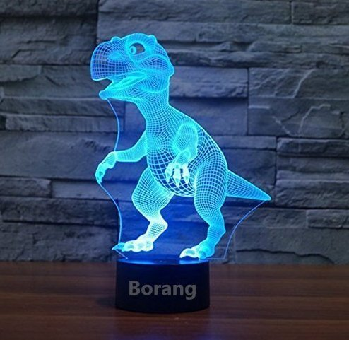 Borang Dinosaur Light Night Light Touch Table Desk Lamp 3D Lamp Led Night Light Touch Table Desk Dinosaur Lamp 7 Colors 3D Optical Illusion Lights For Gift