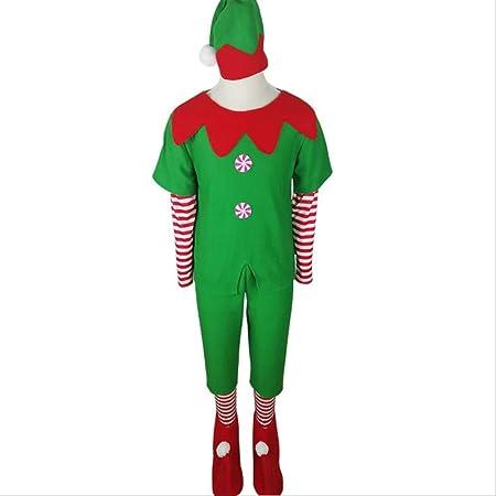 CHHGS Santa ClausNuevo Elfo Verde Traje De Navidad Niño Cosplay ...