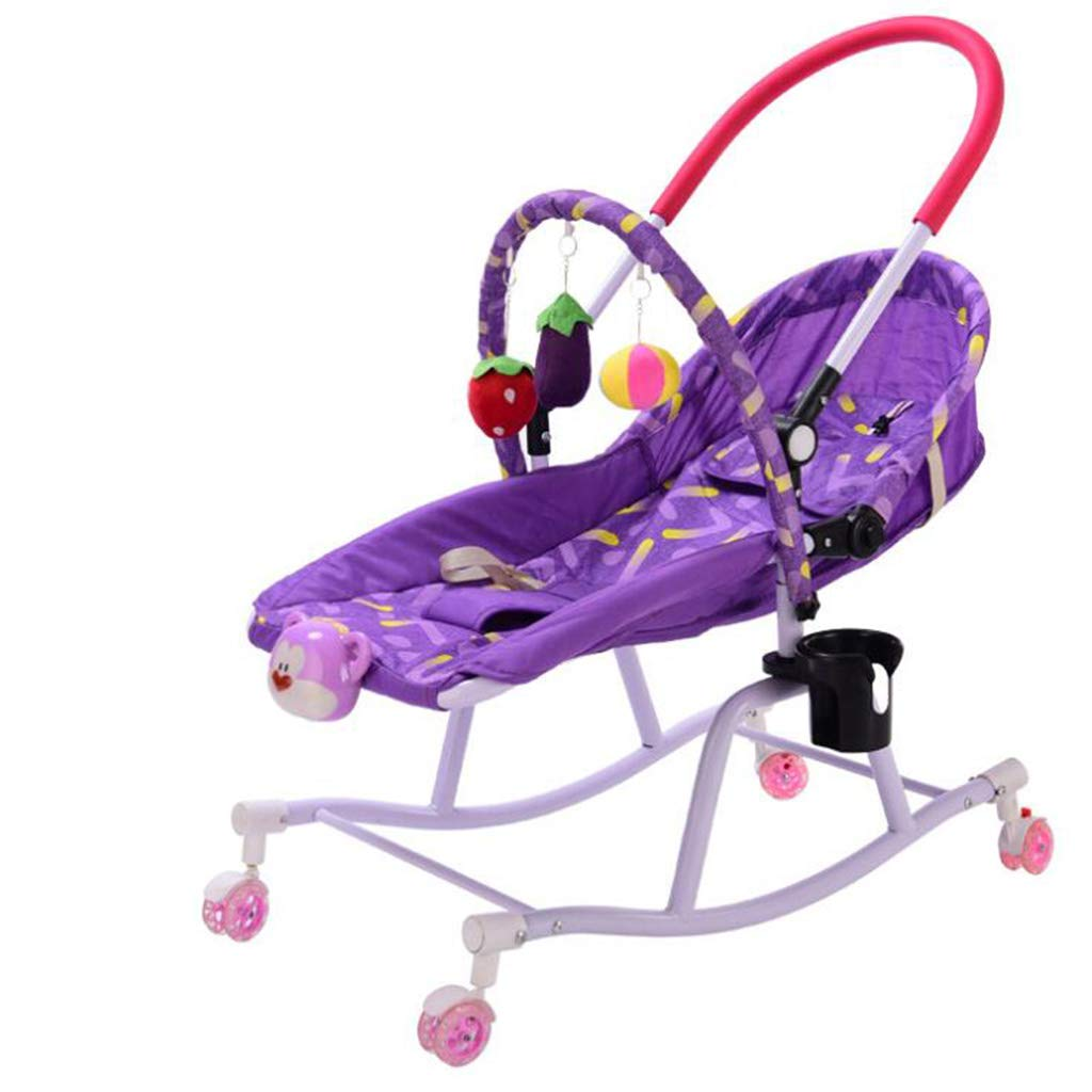 Silla multifunci/ón Silla Mecedora para beb/és Cuna Inteligente para beb/és Silla c/ómoda para ni/ños Juguete para beb/és,Purple WXX Silla Mecedora para beb/és