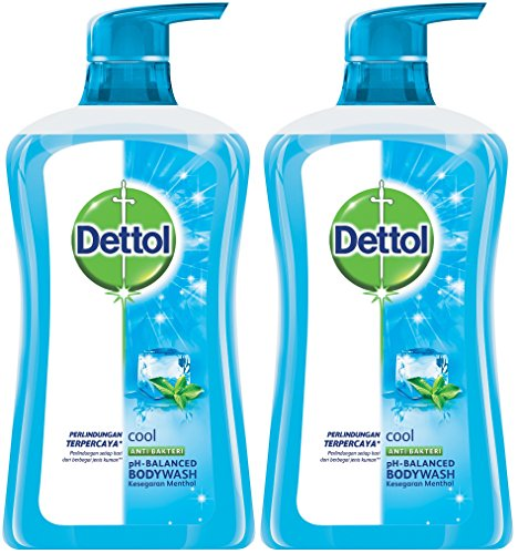 Dettol Anti Bacterial pH-Balanced Body Wash, Cool, 21.1 Oz/625 Ml (Pack of 2) ()