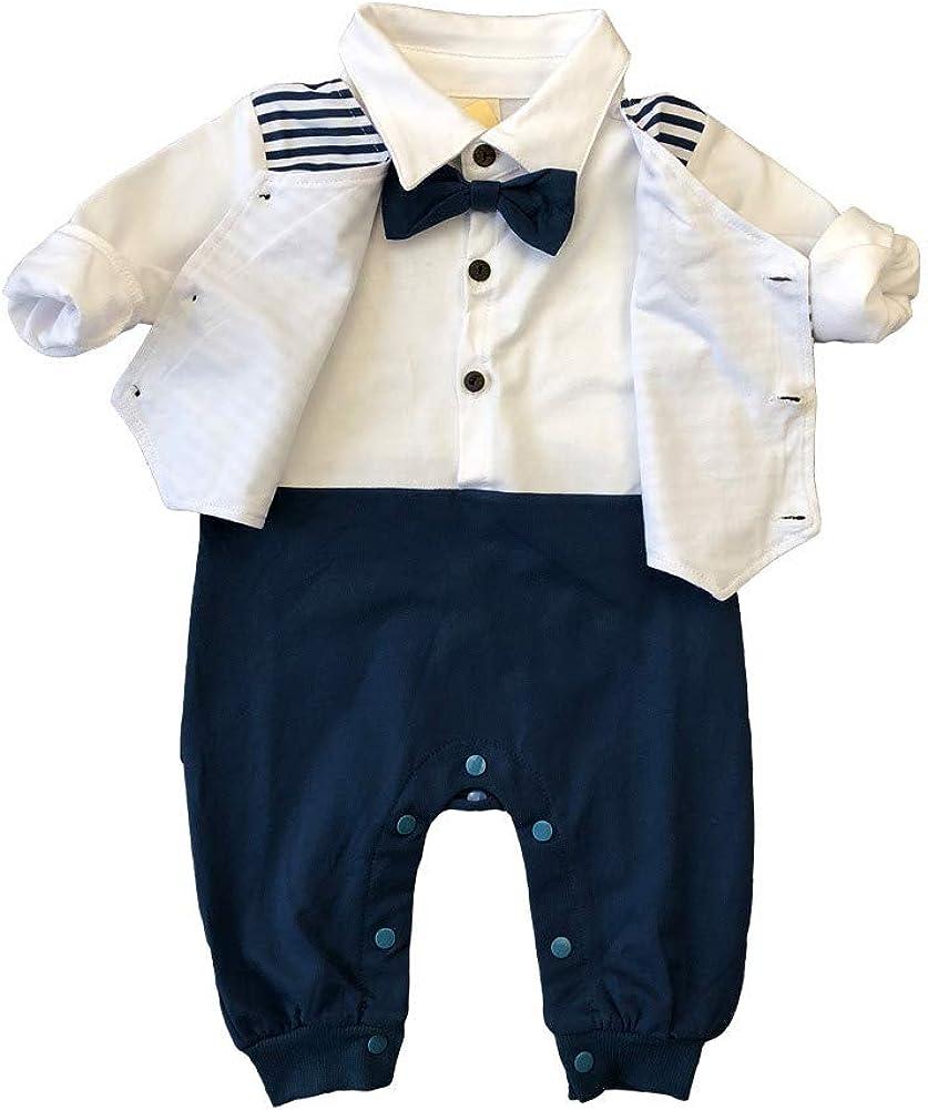 Baywell Unisex Baby Strampler Jungen Wenig Gentleman Kleidung Set Neugeborenen S/äugling Spielanzug Jumpsuit Overall Nachtw/äsche