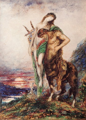 Moreau Gustave The Dead Poet Borne by a Centaur 100% Hand