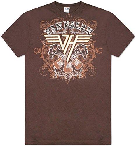 Mens Chocolate Van Halen Rock N Roll T-shirt, Official, S to XXL