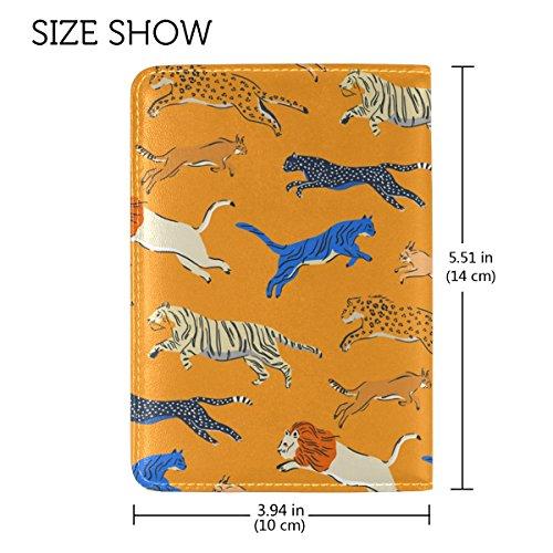 Copertina Del Passaporto In Pelle A Motivo Di Animali In Caosun Per Una Tasca