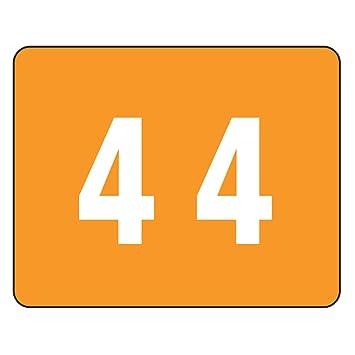Smead - Número 4 con código de color, color naranja