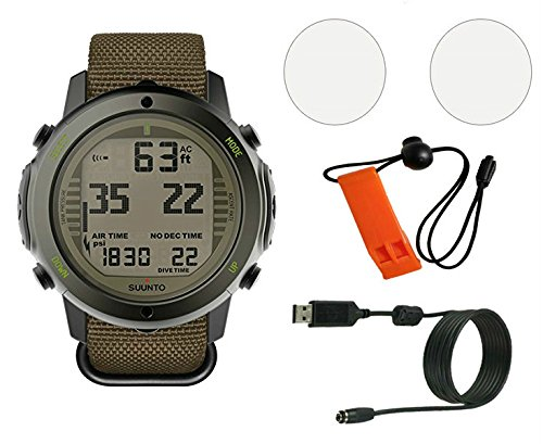 Price comparison product image DiveCatalog Suunto D6i Novo Dive Computer w/Whistle, USB, and Scratch Guard (Stealth)