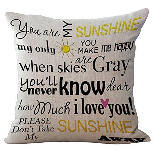 venzhe Monogram funda de almohada Home Sweet Home lino y ...