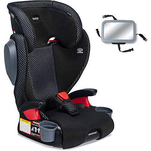Britax Highpoint Belt-Positioning Booster Seat with Back Seat Mirror - Cool Flow Grey