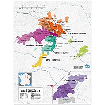 Map Of France To Print.Amazon Com Wine Folly France Champagne Wine Map Poster Print 12