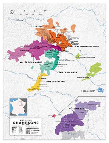 Map Wine France Region - Wine Folly France: Champagne Wine Map Poster Print, 12