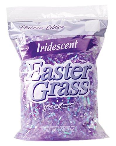 [해외]무지개 빛깔의 부활절 그라스 - 1.5 온스 (42g) (1 개 포함, 스타일은 다양 함)/Iridescent Easter Grass - 1.5oz (42g) (Includes 1; Styles vary)