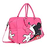 A39.Disney Mickey Mouse Men Women Travel Weekend Duffel Luggage Overnight Bag (Pink)