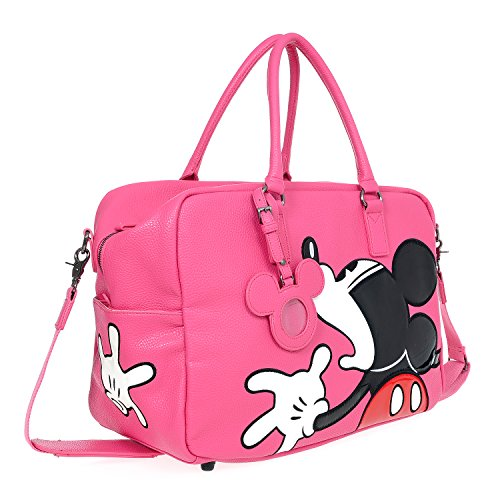 A39.Disney Mickey Mouse Men Women Travel Weekend Duffel Luggage Overnight Bag (Pink) by Disney