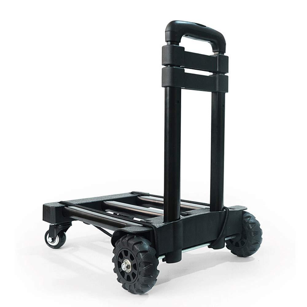 ポータブル大型アルミ合金ロードキング小型プルカット 黒、折りたたみ式、ポータブルトラベルトレーラーポータブルショッピングカート (色 : : 黒) B07K9JP5V3 黒) 黒, サカイグン:35c1fe9e --- anime-portal.club