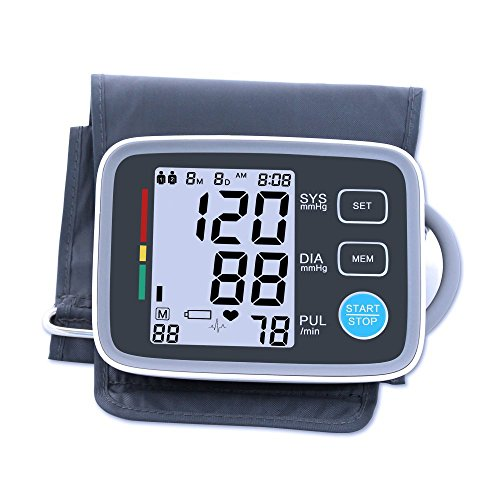 Automatic Digital Upper Arm Blood Pressure Monitor, FDA Approved, XREXS Adjustable Cuff Electronic Sphygmomanometer with Large LCD Display,90 Groups Memory,2 Users model Blood Pressure Machine