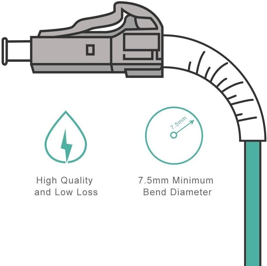 Convertidor de Medios 10Gtek OM3 LC a LC Cable de Fibra /Óptica 25m- 50//125 Multimodo D/úplex Fiber Patch Cable LSZH para SFP 10G SFP+ Longitud: 1m a 50m