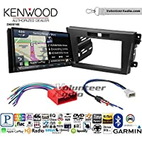 Volunteer Audio Kenwood DNX874S Double Din Radio Install Kit with GPS Navigation Apple CarPlay Android Auto Fits 2010-2012 Mazda CX-7