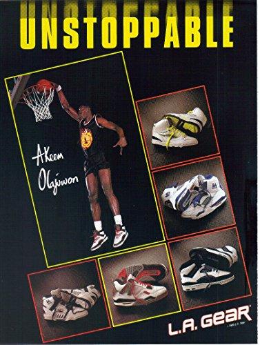 Magazine Print Ad: 1989 L.A. GEAR shoes, Hakeem Abdul Olajuwon (Akeem Olajuwon)