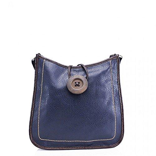 x Ladies Faux Leather Shoulder D8cm CWS00431 Small CWRM140929 Bags Quality Celebrity CWRM140928 Handbag Fashion W28cm H26cm NAVY x Cross Designer Women's Body R1xqnrYR