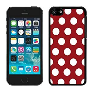 MMZ DIY PHONE CASEBINGO top-selling Polka Dot Dark red and White iphone 6 4.7 inch Case Balck Cover