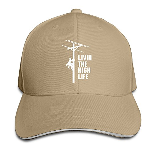 Price comparison product image AegeanSea Livin The High Life - Lineman Line Worker Utility Fashion Sun Hat Natural