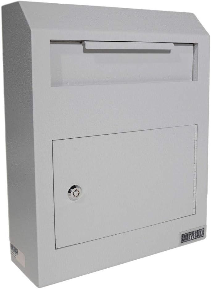 DuraBox Wall Mount Locking Deposit Drop Box Safe (W500) (Gray)