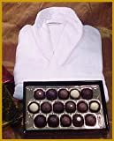 Premium Truffles in Gold Lacquer Box & Promotional Velour Terry Robe. Truffles Are Made Using Over 99% Organic Ingredients and Are Hormone & GMO Free