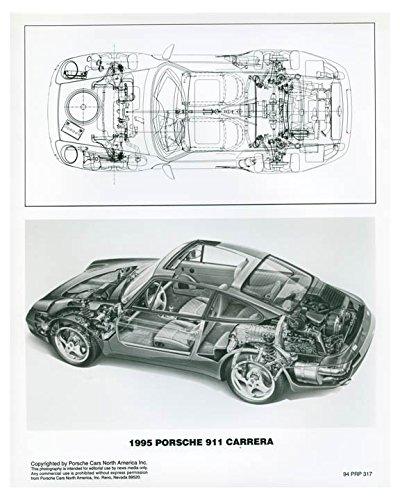1995 Porsche 911 Carrera Cutaway Photo Poster from AutoLit