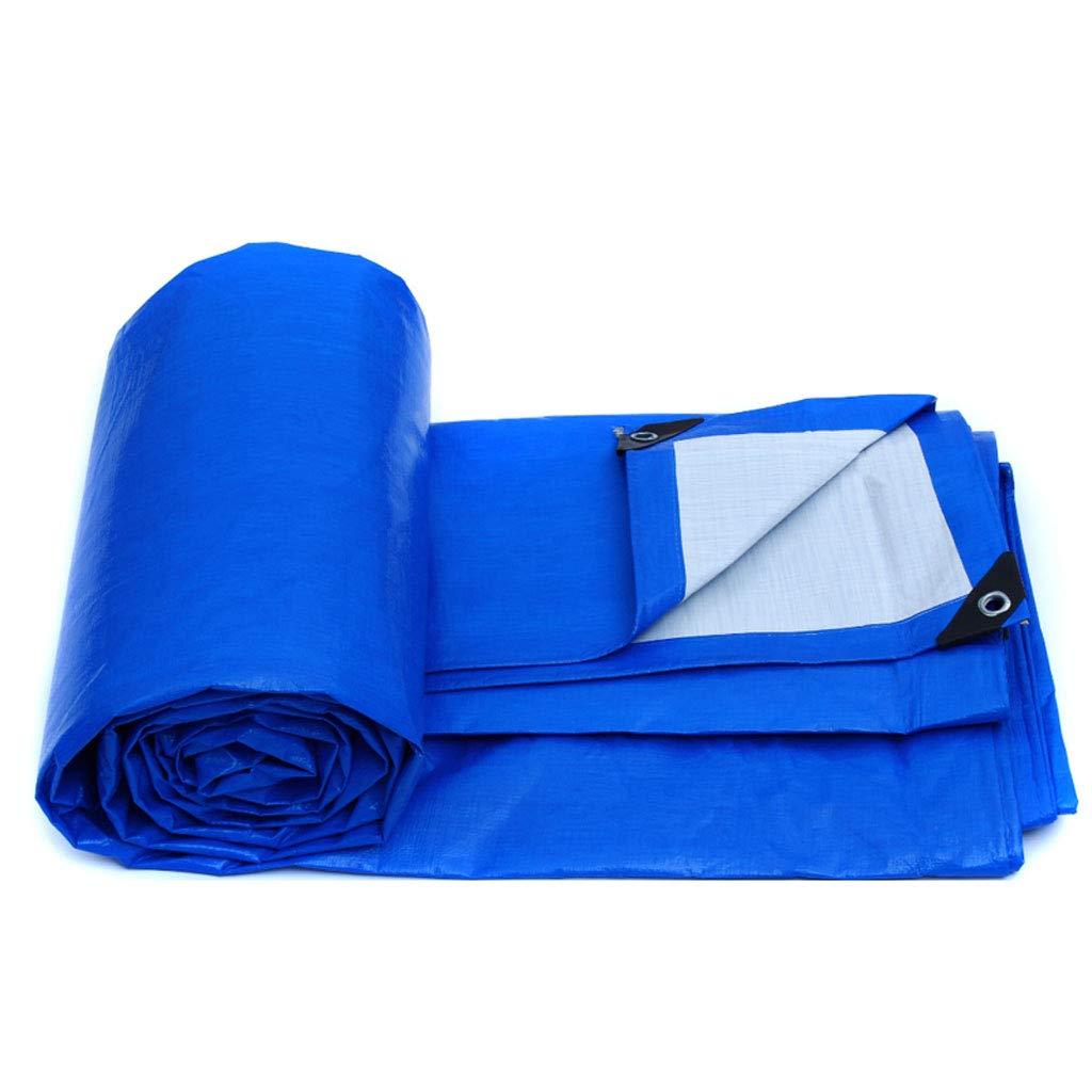 防水ポンチョ屋外のキャンプ用のピクニック用に適したブルー厚い織りのターポリン、複数のサイズ (色 : 青と白, サイズ さいず : 6 * 8M) 6*8M 青と白 B07HN7Y4SY