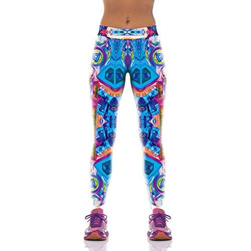 Pinkyee de yoga ejercicio para mujer medias Estampado Abstracto