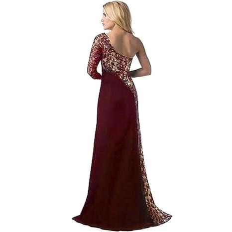 Vestido de mujer Señoras Sexy Fuera del hombro Formal Boda Dama de honor Elegante Princesa Vendimia ...